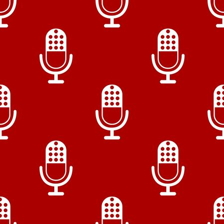 podcasts: Microphone icon pattern. Background for sound recording in mobile app and audio blogs and podcasts Illustration