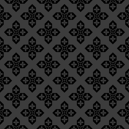 delicate arabic motif: Arabic black and white seamless pattern vector background Illustration