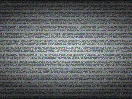 TV noise seamless texture. No signal and error concept. Digital texture pattern video, vector illustration Stock Illustratie