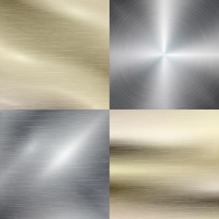 métal poli, de la texture de l'acier fond. Matériau métallique, en acier inoxydable, modèle brossé, illustration vectorielle Vecteurs