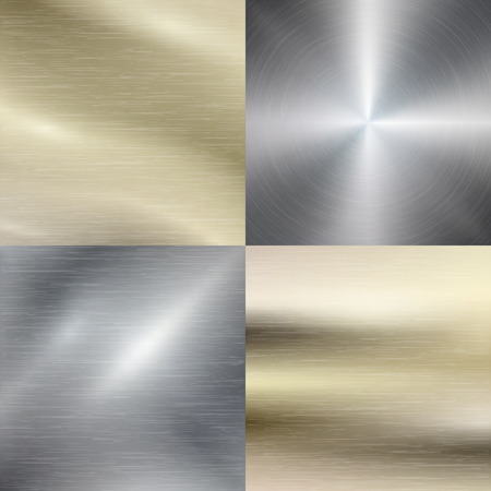 shiny metal: Polished metal, steel texture background. Metallic material, stainless steel, brushed pattern, vector illustration