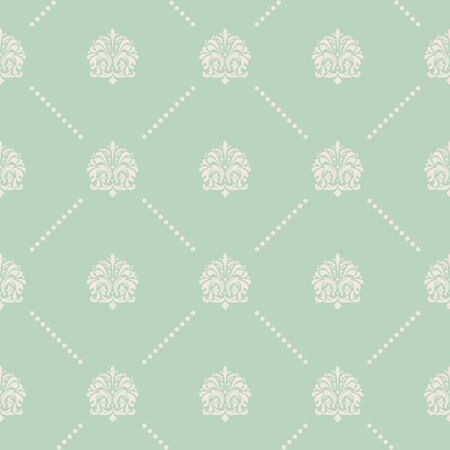 western pattern: Vintage vector seamless pattern in Baroque style