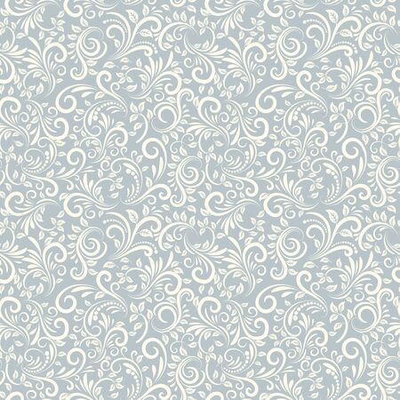 color in: Seamless background of light blue color in Damascus style
