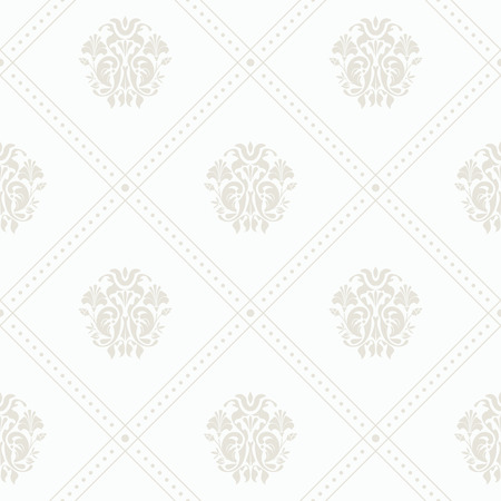 whorls: Silver vintage seamless wallpaper with grid vector background