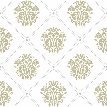 luxury paper: Vector seamless background of green and gray colors on white background Illustration