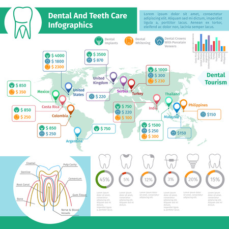 cementum: Dental vector infographics. Medical care tooth, healthy oral hygiene illustration