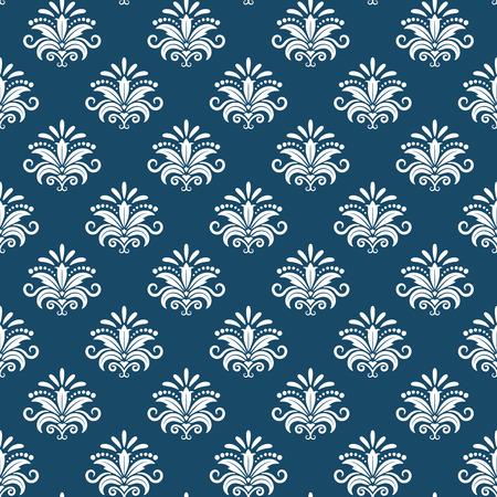 regal: Vector classical damask seamless pattern. Design renaissance, revival baroque, luxury regal endless, vector illustration