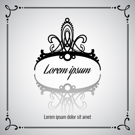 beauty queen: Elegant vector crown or tiara for princess or queen illustration, symbol royal fashion Illustration