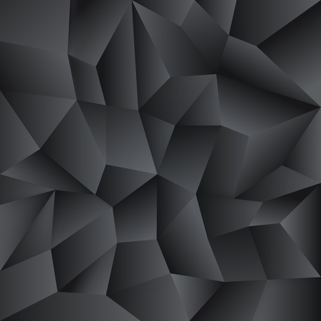 Low poly crystal background. Black polygon design pattern. Low poly vector illustration, low polygon background Illustration