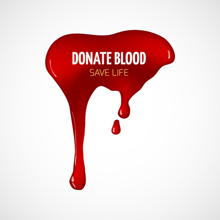 Donate blood vector poster. Donation help, save life, healthy transfusion illustration