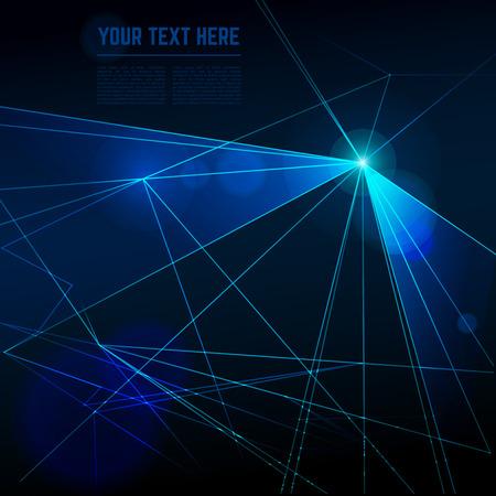 Résumé laser lumières vecteur de fond. effet Ray, l'énergie du faisceau, la technologie néon futuriste pour discothèque illustration Illustration