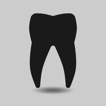 dientes: Vector silueta de dientes. Diente dental, diente sano, icono del diente ilustración Vectores