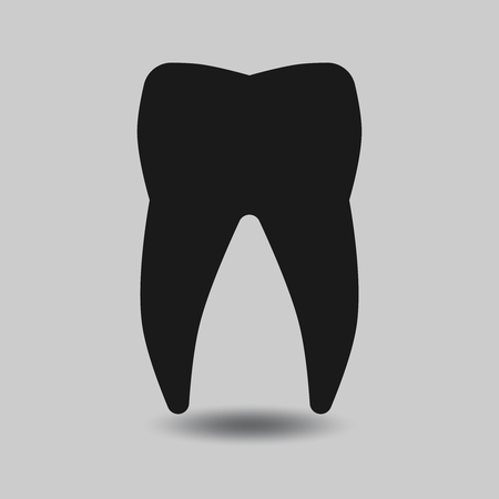 tooth: Vector tooth silhouette. Tooth dental, healthy tooth, icon tooth illustration Illustration