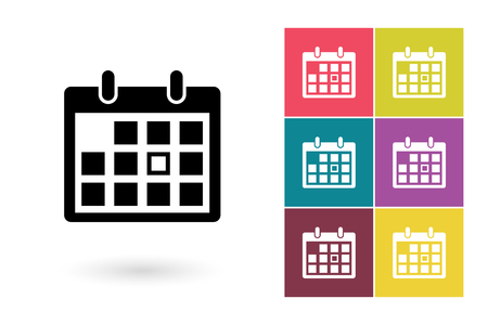 Kalender vector icon. Pictogram van de kalender of agenda-pictogram voor logo met kalender of etiket met kalender Stock Illustratie