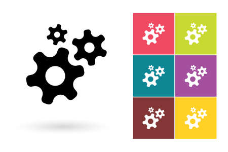 gear symbol: Gear vector icon or gear symbol. Gears icon or gears pictogram for logo with gear or label with gears