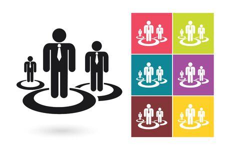 rewarding: Human resources management vector icon or human resources symbol. Human resources icon for HR logo or HR label