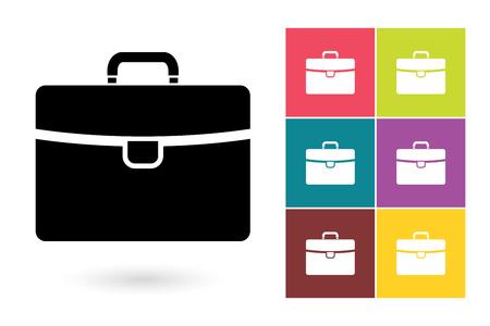 Porte-documents vecteur icône ou symbole mallette d'affaires. icône Porte-documents ou une mallette pictogramme pour le logo de l'entreprise avec une mallette ou une étiquette avec une mallette Logo