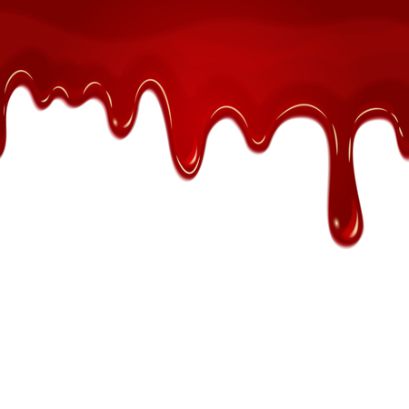 blood stain: Vector dripping seamless blood. Blood liquid, drip blood wet, seamless flow blood illustration