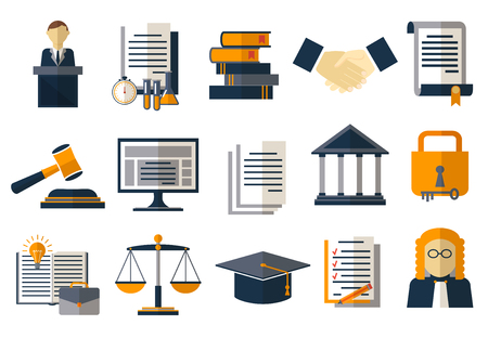 legal books: Legal compliance deal protection and copyright regulation. Copyright legal, protection and regulation, regulate compliance agreement, vector illustration Illustration