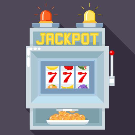 Casino gokautomaat. Vector UI game template. Slot casino, spel gokken, machine spelen, jackpot kans illustratie Vector Illustratie