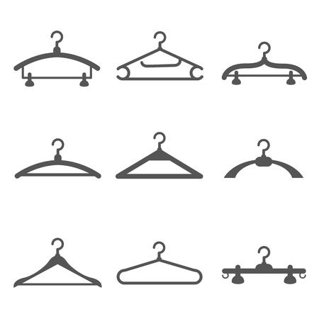 Vector Kleidung Logo, Online-Shop, Mode-Ikone. Kleider Hängen Auf ...