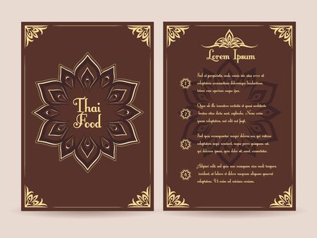 thai style: Thai food menu vector template. Menu food template, brochure menu food, restaurant menu food thai illustration Illustration