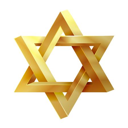 Jodendom ster. Verbinding van Solomon vector icon. David ster, joodse ster, pictogram israel ster illustratie