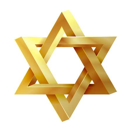 Judaism star. Seal of Solomon vector icon. David star, jewish star, icon israel star illustration