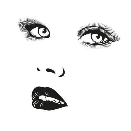 femme dessin: Beau portrait femme vecteur. Portrait fille visage, portrait illustration, mode femme portrait, jeune femme portrait Illustration Illustration