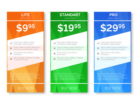 professional: Vector pricing with polygonal background. Price banner, web price label, blank page price illustration
