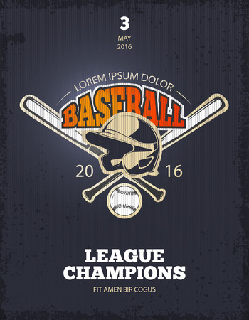 baseman: Retro baseball poster. t-shirt print template for college team. Vector illustration
