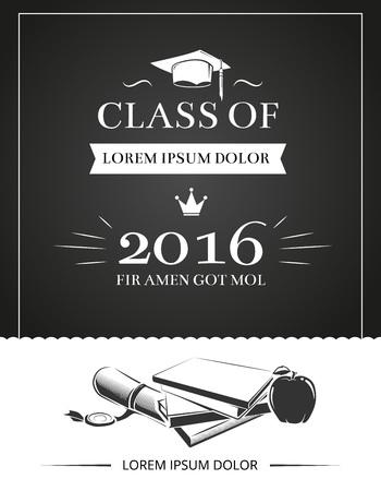 毕业晚会邀请向量卡,教育大学成功学校海报模板