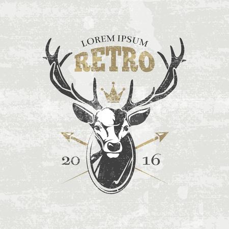 hunters: Deer hunters club badges, labels Vector illustration