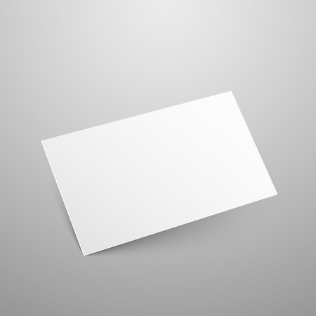 Business card vector mockup blank paper empty template illustration business card vector mockup blank paper empty template illustration stock vector 61367322 reheart Images