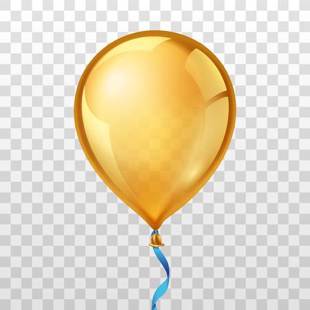 globo de oro para el cumpleaños o festivo con helio. Vectores