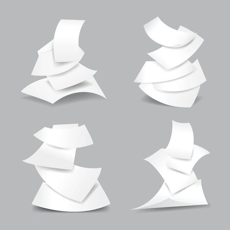 paper sheets: Falling paper sheets vector illustration. Set of paper blank and empty paper page Illustration
