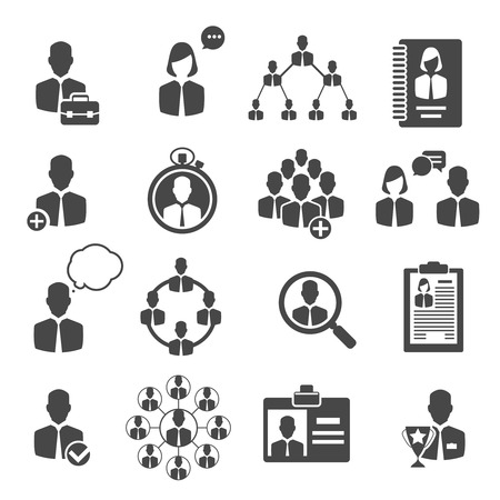 People management and business management structure for company icons. Vector illustration