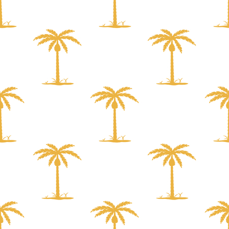 Seamless pattern with tropic palm. Tropical background hawaii, vector illustration