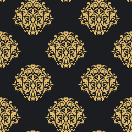 Vintage pattern seamless. Wallpaper retro background with ornament, vector illustration