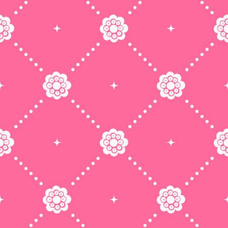 Pink pattern seamless in baroque style. Decorative vintage, wallpaper, vector illustration