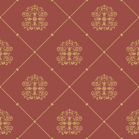 Pattern seamless baroque style. Floral damask design background, vector illustration