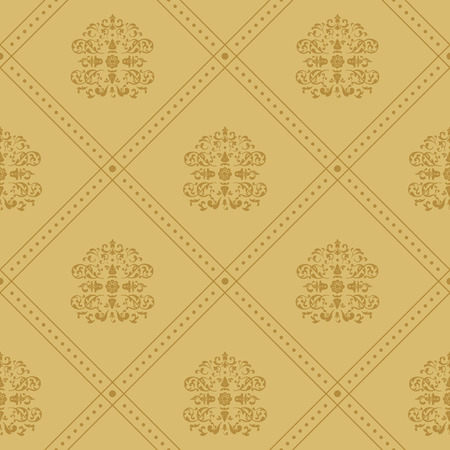 Background victorian regal. Pattern in style baroque vintage, vector illustration