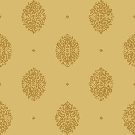 Vintage seamless background baroque. Elegance repetition pattern element. Vector illustration Illustration
