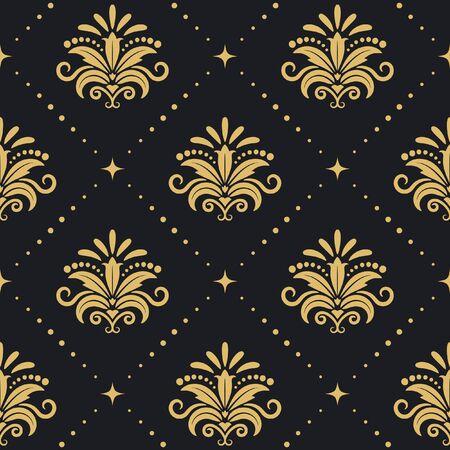 elegance: Floral royal background. Seamless pattenr with elegance elements. Vector illustration