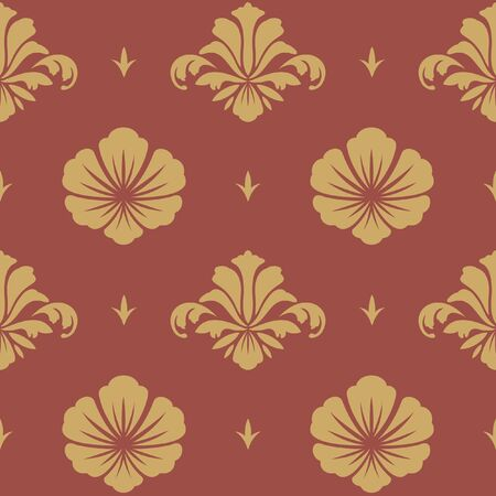 revival: Baroque design wallpaper. Floral seamless pattern ornament revival, vector illustration Illustration