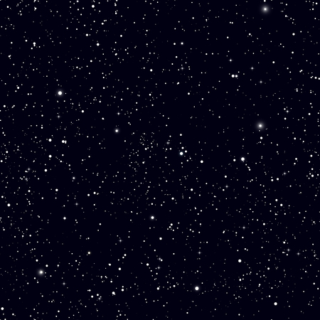 Space with stars vector background. Galaxy and planets in space cosmos pattern. Universe space infinity and starlight illustration Stock Illustratie