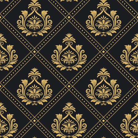 regal: Background victorian regal pattern seamless baroque. Backdrop decoration vector illustration