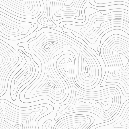 geographic: Topographic contour lines vector map seamless pattern. Map of terrain geographic, illustration of topography linear map area