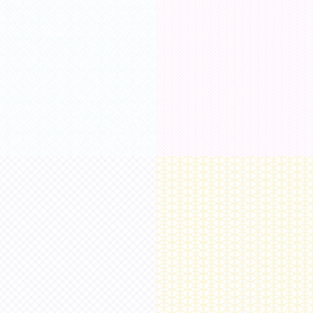 Vector guilloche texturen watermerk voor diploma's en certificaten, bankbiljetten en vouchers. Guilloche watermerk licht zichtbaar illustratie
