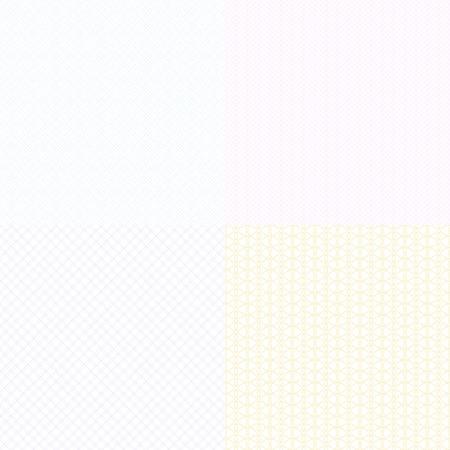Vector guilloche textures en filigrane des diplômes et certificats, billets de banque et pièces justificatives. filigrane guilloché illustration légèrement visible
